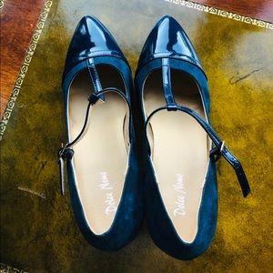 dolce Nome Shoes - BLUE SUEDE SHOES, HEELS